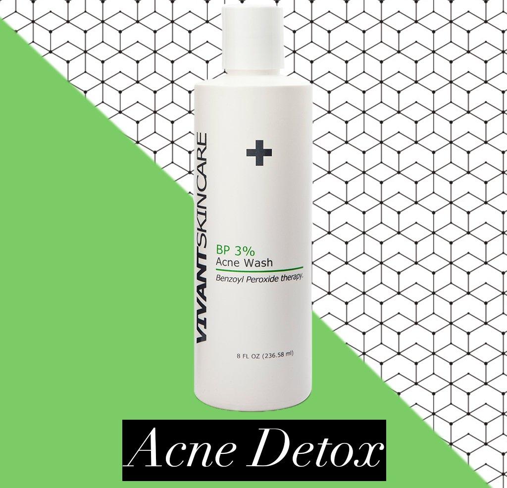 Vivant Skin Care BP 3% Acne Wash | Benzoyl Peroxide Wash For Acne-Prone Skin | 8 Fluid Ounce