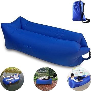 [Versión 2.0 – 2017] Colchón hinchable, Lazy bag o sofá hinchable para hasta