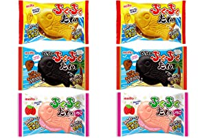 Pukupuku-Tai,Fish‐shaped cunchy chocolate wrapped in wafers,total 6 packs. No.a242
