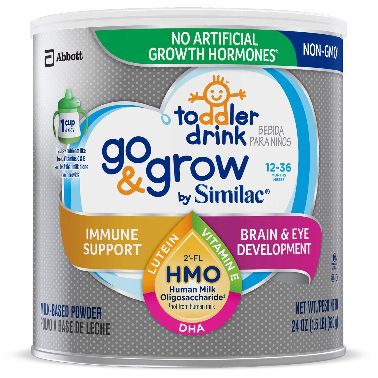 Go & Grow by Similac Toddler Drink with 2-FL HMO for Immune Support
