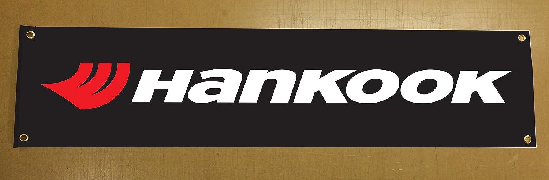 'Hankook' Pneu Bannière pour garage murale ou à l'extérieur d'utilisation 1, 5x 0, 3m Environ 5x 0 3m Environ Catchy Signs Graphic Works