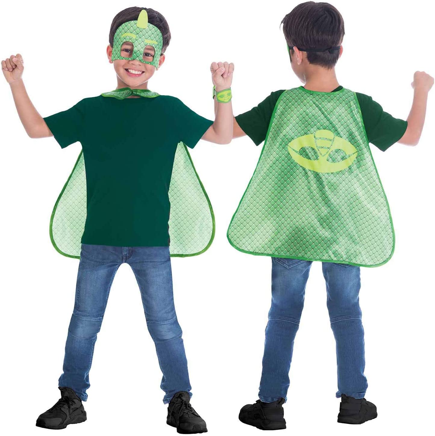 amscan- Green Cape Costume Set with Masks Design, 4-8 Years-1 Pc ...