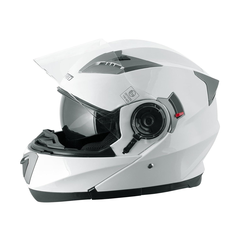 A-Pro Helm Klapphelm Innensonnenblende Motorradhelm Modular Mat Schwarz L