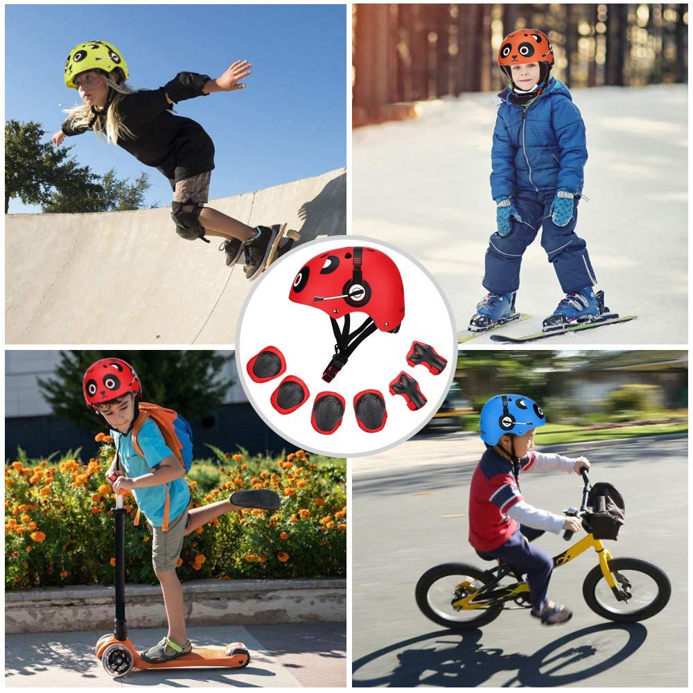 TOURNOW Kids Bike and Skateboard Helmet, CPSC Certified 11 Air Vents Adjustable Dial Helmet for Rollerblading Skateboard Cycling Skating Bike Scooter (Orange, S)