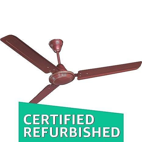 Buy Renewed Crompton Hlb1200brn Wor 1200mm Ceiling Fan Brown