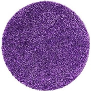 Your Zone Round Purple Shag Rug (1, Purple)