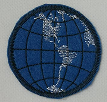 Earth map world globe iron on sew on embroidered patch badge earth map world globe iron on sew on embroidered patch badge applique motif gumiabroncs Image collections