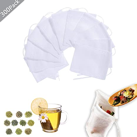 300 piezas Bolsita de te de Filtro Bolsita de té de las ...