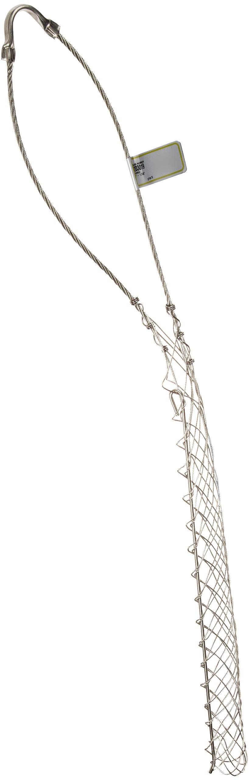 Hubbell Wiring Systems 02203019 Kellems Tin-Coated Bronze Standard Duty Support Grip, Single Eye, Split Mesh, Rod Closing, Single Weave, 1610 lbs Breaking Strength, 1.50''-1.74'' Cable Diameter