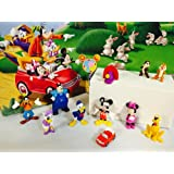 Mickey Mouse Clubhouse Deluxe Figure Set of 12 Cake Toppers Cupcake Toppers Party Decorations Set Included: Mickey Mouse, Minnie Mouse, Donald, Daisy, Goofy and more