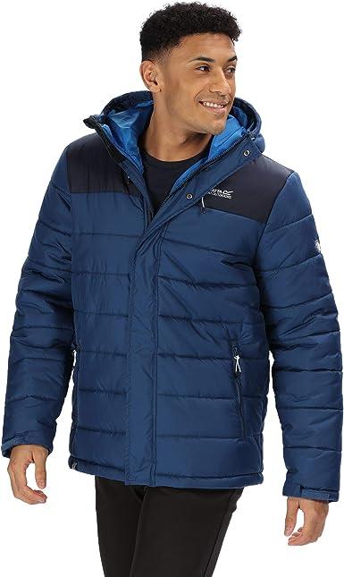 Regatta Men/'s Nevado III Hooded Baffle Jacket Blue