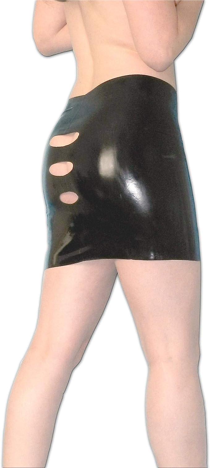 Falda Látex Minifalda con rajas en talla S, goma: Amazon.es: Salud ...