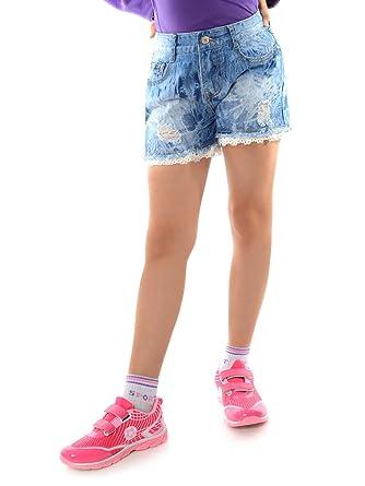 neueste kaufen feinste Stoffe bekannte Marke BEZLIT Mädchen Jeans Shorts Kurze Hose Used 22143