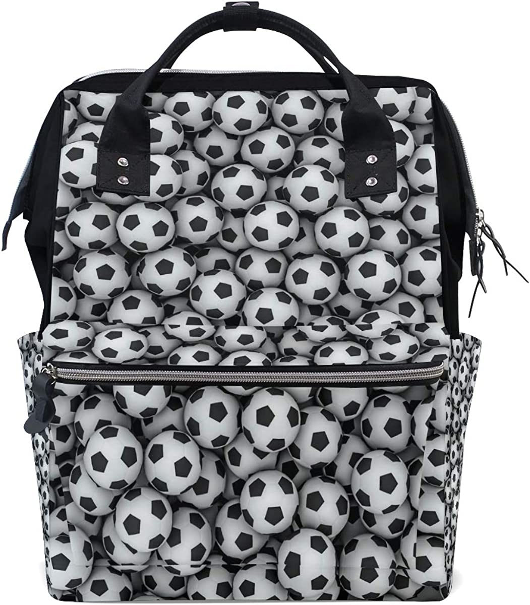 imobaby Football Patterns Print Changing Bags Large Capacity Handbags Canvas Shoulder Bag Backpack