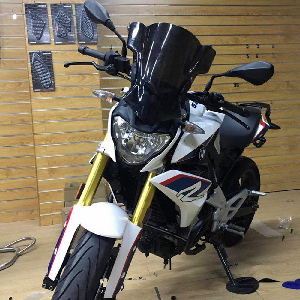 Universal Motorcycle Windshield Windscreen 7//8 /& 1 /& 1.1 Handlebar Mount For Harley Kawasaki Yamaha Honda Suzuki BMW KTM Aprilia Triumph Dark Smoke