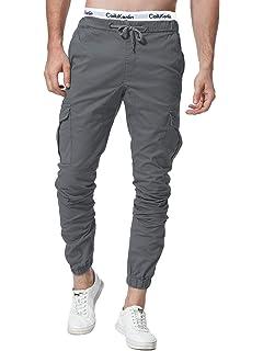Sidiou Group Pantalones de algodón para Hombres Pantalones ...