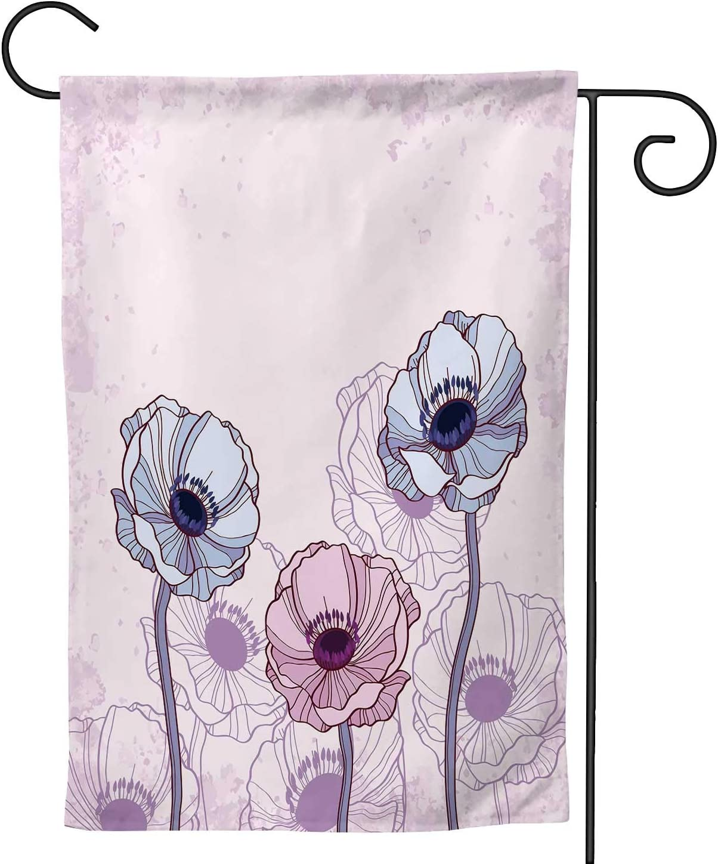 C COABALLA Anemones Anemone Flower,Welcome Garden Flag Double Sided Outdoor Decoration Art 28''x40''