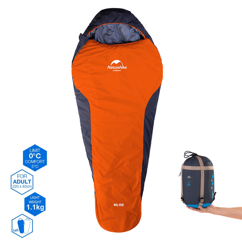 Saco de dormir Topnaca para 3 estaciones, a partir de 0 ºC; impermeable, ligero, transpirable y cómodo, para deporte, aventura, camping, senderismo, etc., ...