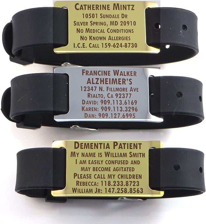 Premium Alzheimers Dementia/Identification Bracelet