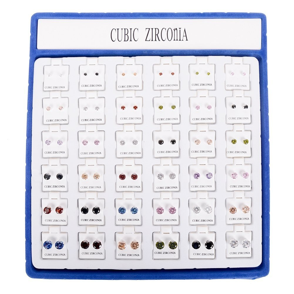 Creative Personality Atmosphere 36 Pairs Of Diamond Hypoallergenic Earrings Set Female Girl Jewelry (Style 2)
