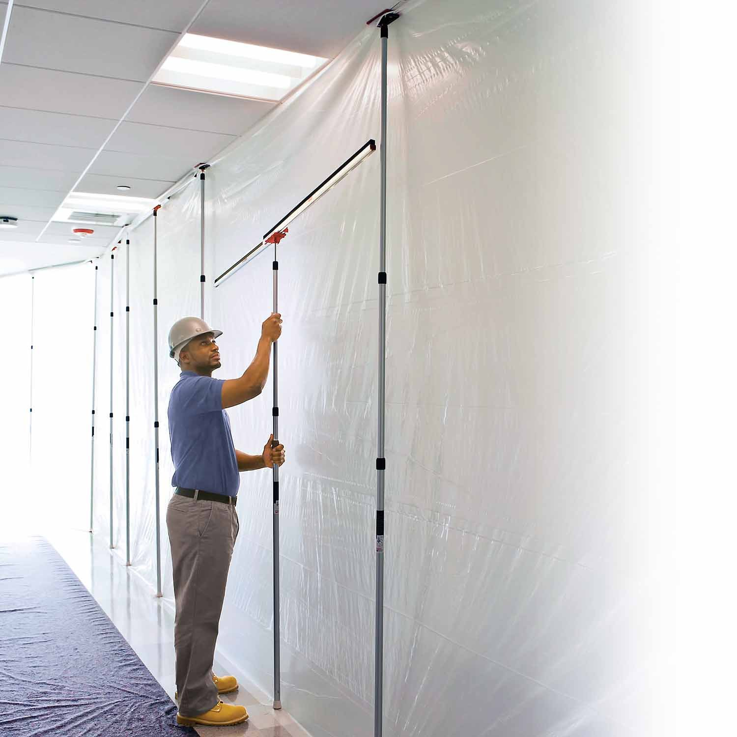 ZipWall 12' Spring-Loaded Poles for Dust Barriers, 2-Pack, SLP2 by ZipWall (Image #4)