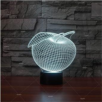Lampe de chevet de nuit Apple forme créative lampe de table