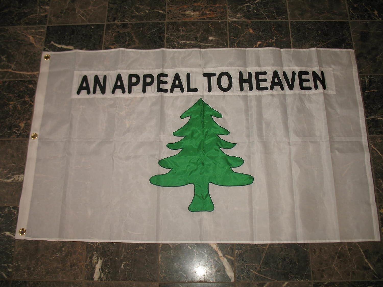 3x5 An Appeal To Heaven 2ply Flag White Pole Kit Set 3/'x5/'
