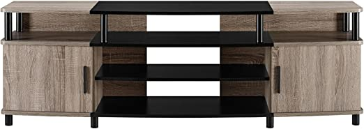 Ameriwood Home Carson Tv Stand For Tvs Up To 70 Weathered Oak Furniture Decor