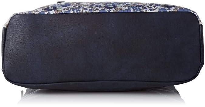 Womens Qu11-lm-flower Tote Blue Bleu (Flower) Little Marcel WVIToI