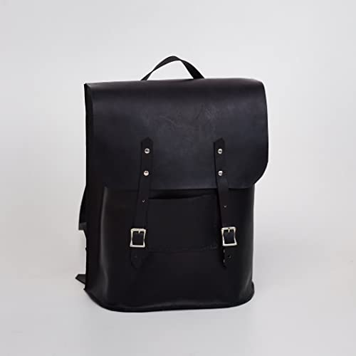 Amazon.com  Black Genuine Leather Backpack by Tiny Backpacks ... d27d83ee065b3