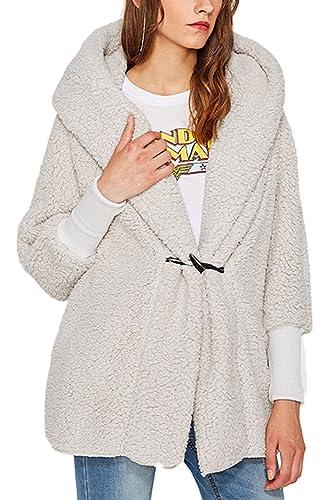 La Mujer Casual Con Capucha Abrigos De Invierno Ropa De Abrigo Grueso Boton De Bocina