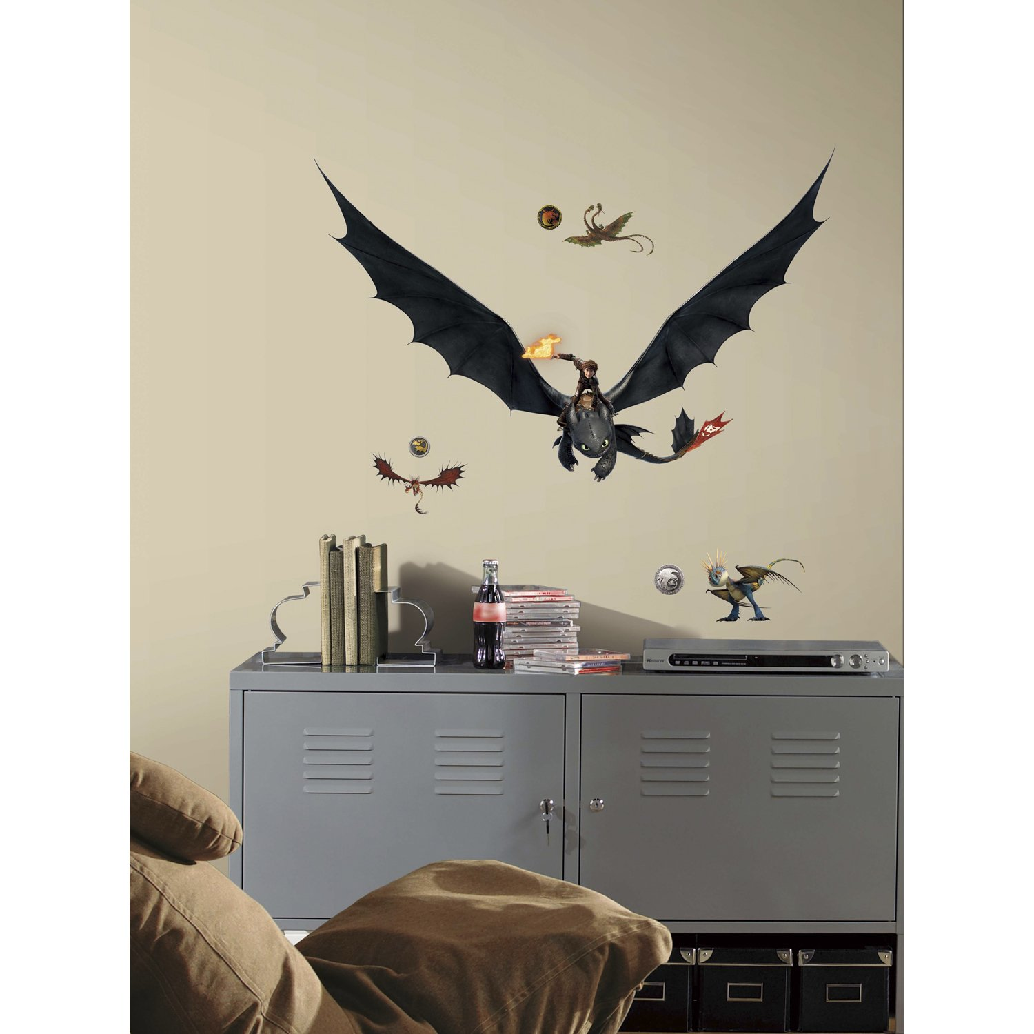 Beau Amazon.com: RoomMates How To Train Your Dragon 2 Hiccup U0026 Toothless Peel  And Stick Giant Wall Decals: Home Improvement