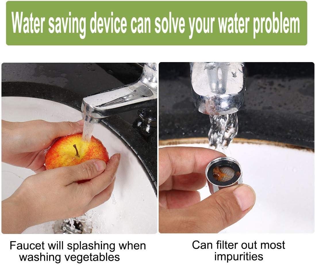 uxcell 3pcs M18 Faucet Aerators Universal Female Faucet Aerator Nozzle Replacement Part for Bathroom Lavatory Kitchen Sink Faucet Bidet Faucet