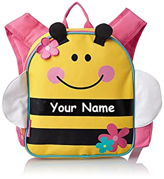 f032eb4f484a Stephen Joseph Personalized Little Girls' Mini Sidekick Bee Backpack With  Name