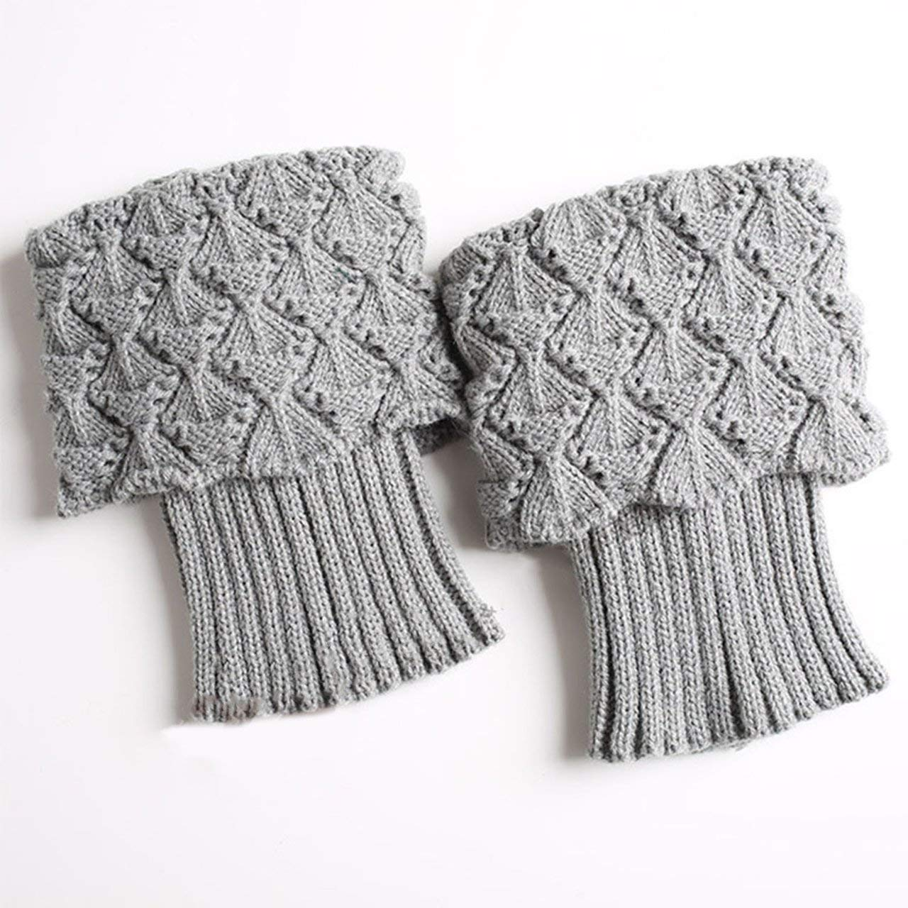 1 Pair Fashion Autumn Winter Women Leg Warmers Female Warm Solid Color Boots Cuffs Knit Leg Warm Socks