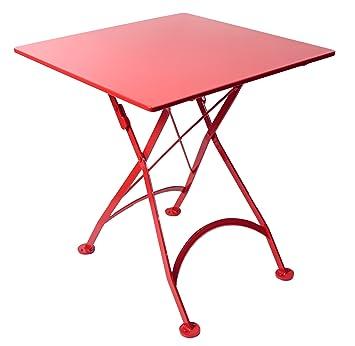 Exceptional Mobel Designhaus French Café Bistro Folding Table, Flame Red Frame,  24u0026quot; X 24u0026quot