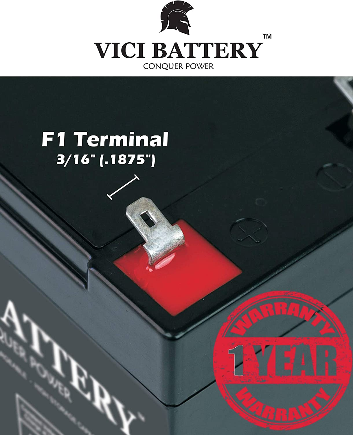 VICI Battery VB5-12 12V 5AH UPS Battery for Power Patrol SLA1055 Brand Product