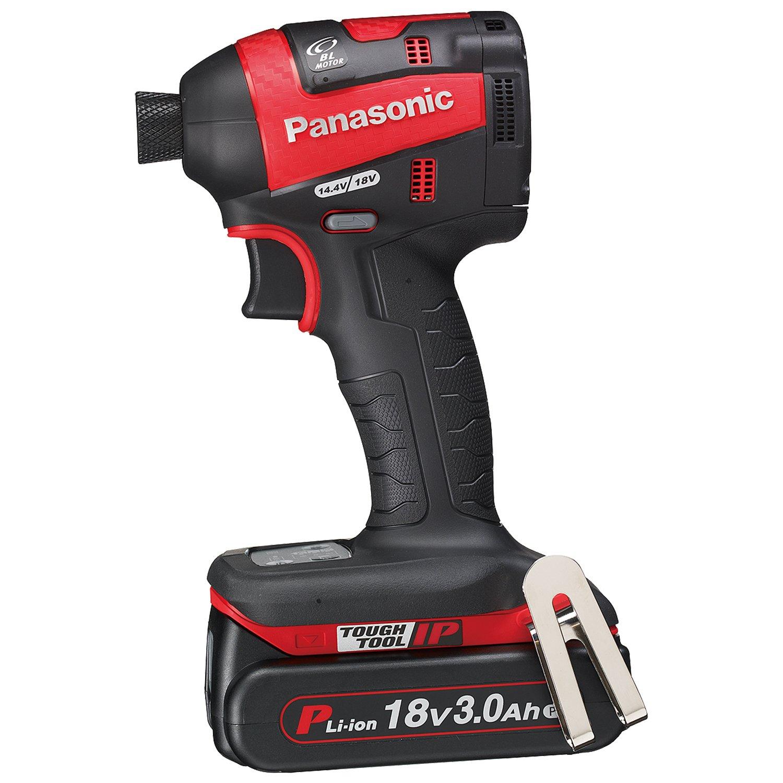 パナソニック(Panasonic) 充電インパクトドライバー 18V 3.0Ah 赤 EZ75A7PN2G-R B013CYU208 赤 赤
