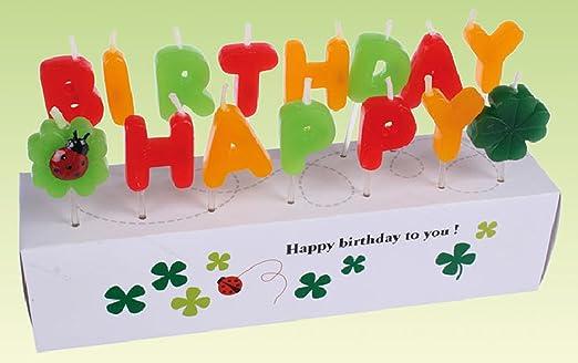 Velas de cumpleaños feliz cumpleaños: Amazon.es: Hogar
