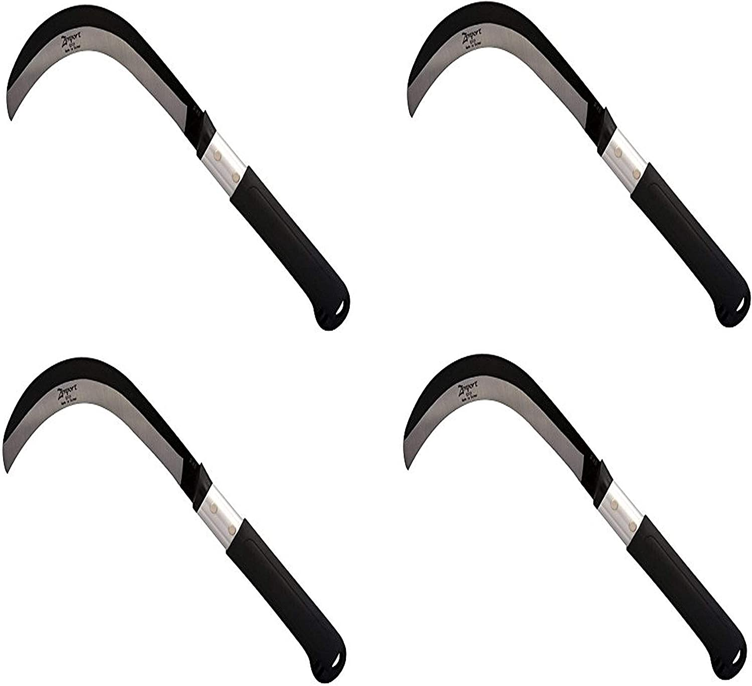 Pack of 2 9 Zenport K310 Brush Clearing Sickle with Carbon Steel Blade and Aluminum Handle