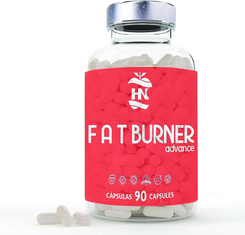 Fat Burner Advance, Potente Quemagrasas Abdominal para adelgazar. 90 Pastillas quemagrasas sin gluten I Para pérdida de peso I 1 mes para dietas Keto ...