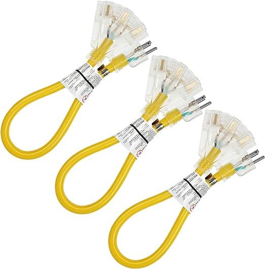 15-Foot 12 Gauge Extension Cord UL Lit End 3 Wire 12//3 Heavy Duty Ft Feet
