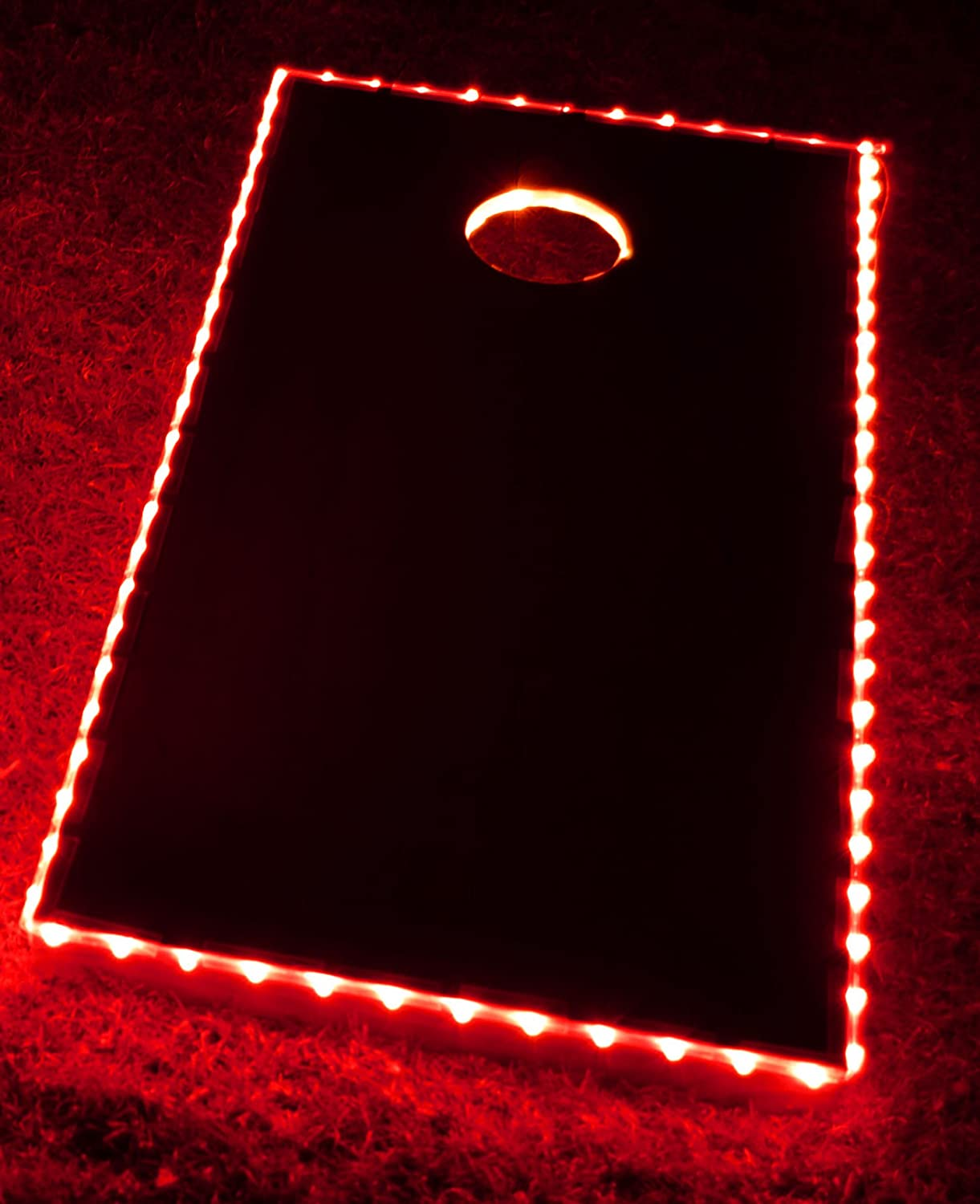 GlowCity Cornhole Lights Board Kit Double The Illumination Closer Spaced LED's (Blue) LED_cornholesb