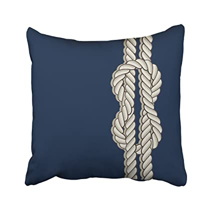 Amazon Accrocn Square Throw Pillow Covers Retro Blue Nautical Enchanting Nautical Decorative Pillow Covers