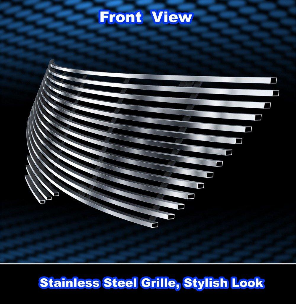 Compatible with 07-09 Nissan Altima Sedan Black Stainless Steel Billet Grille Insert RE-N86476J