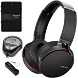 Sony XB950B1 Extra Bass Wireless Headphones with App Control, Black (2017 model) Audio Accessory Kit