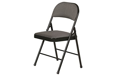 Fine Amazon Com Fabric Padded Folding Chair Gray 4 Pack Kitchen Ncnpc Chair Design For Home Ncnpcorg