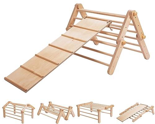 Pikler triangular Mopitri modificable, estructura de escalada, escalador independiente, Pikler triangle / con rampa de deslizamiento / escalada