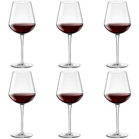 73417935f547 Amazon.com | Bormioli Rocco Inalto Uno Extra Large Wine Glass - 640ml - Pack  of 6 Drinking Glasses: Wine Glasses