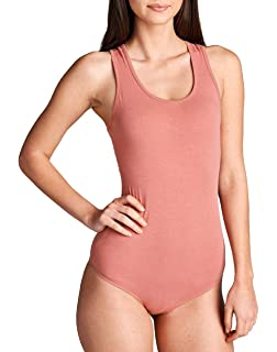 9fab93d35f Amazon.com  Hollywood Star Fashion Snap Crotch Thin Strap Leotard ...